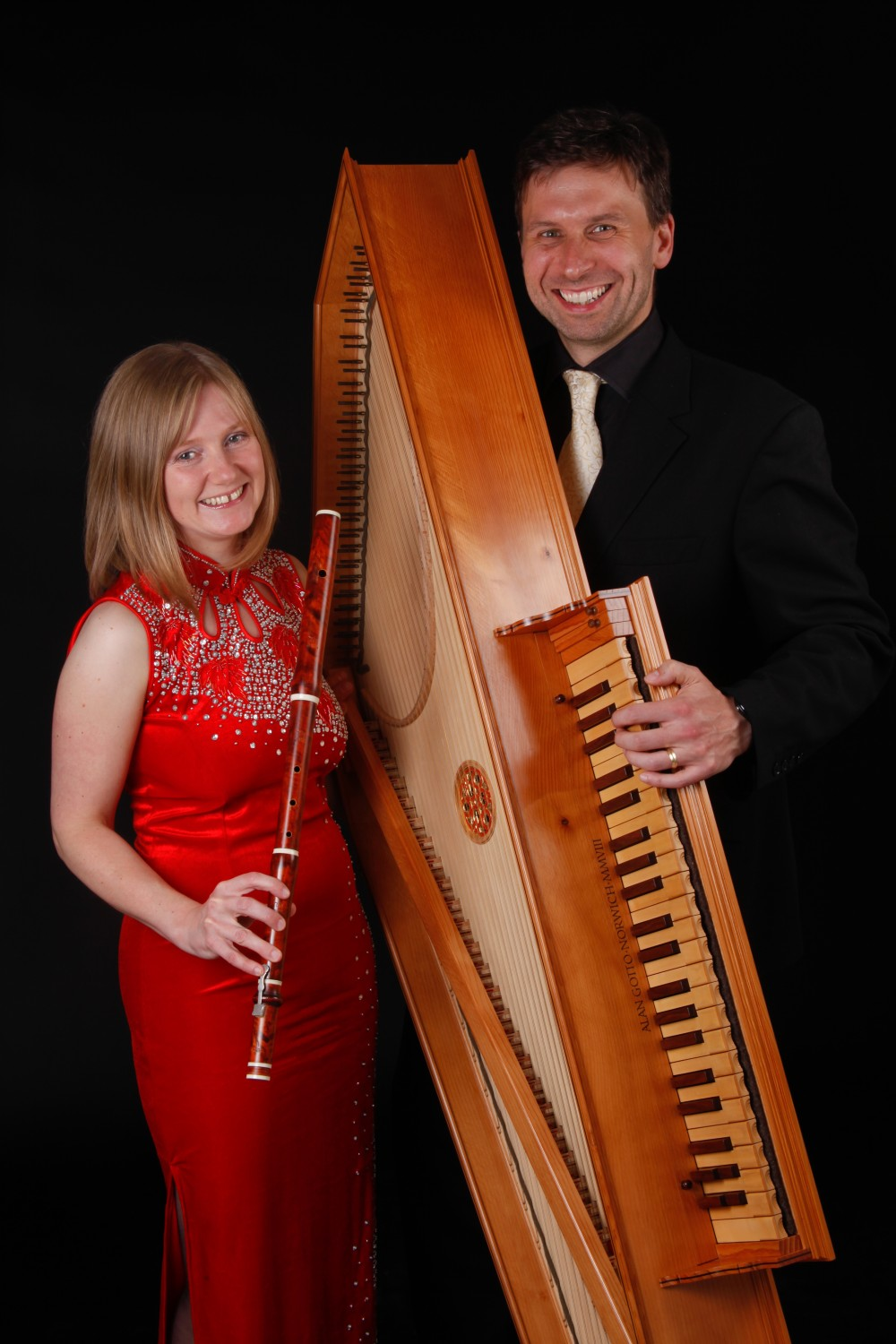 Studio - Passacaglia EnsembleRobin Bigwood and Annabel Knight-Black Background